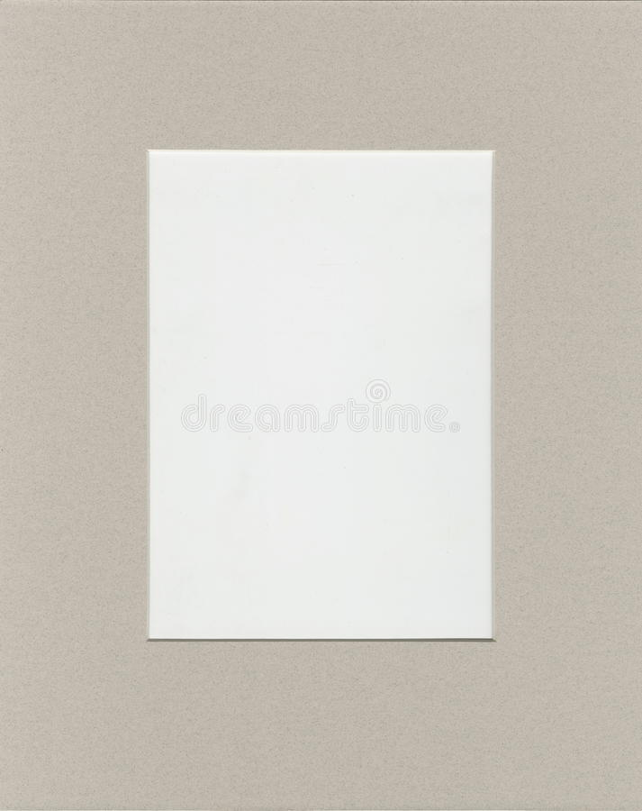 Frame For Photo Or Text From Cardboard Mat With Bevel Cut Stock ...