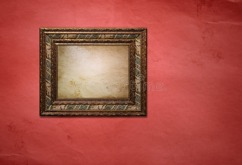 Frame with picture stock images