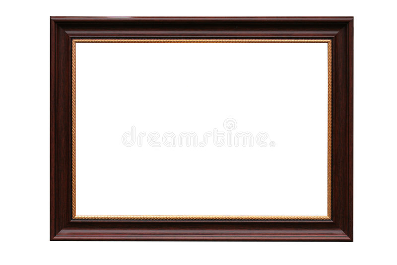 Download Frame For Picture From Baguette On White Stock Image - Image: 8371087