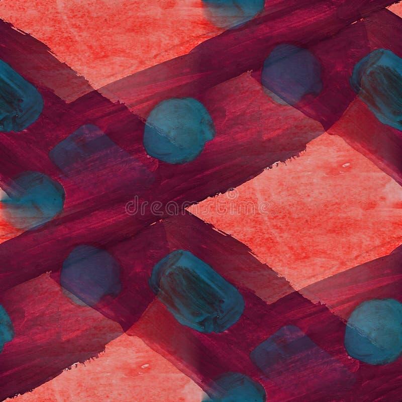Frame picture dark blue, red, violet palette stock illustration