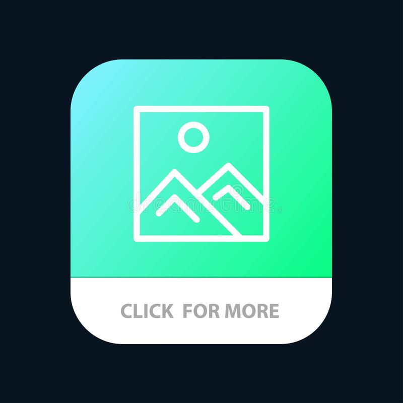 Frame, Picture, Image, Education Mobile App Button. Android and IOS Line Version stock illustration