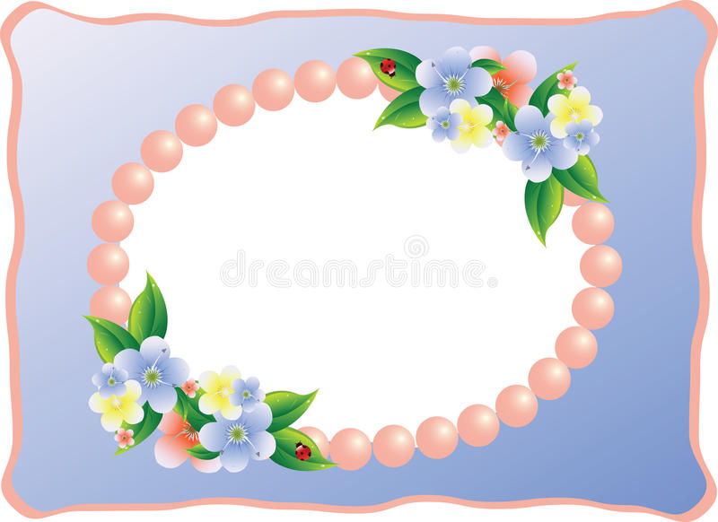 Frame for picture or photo. Vector Illustration stock illustration