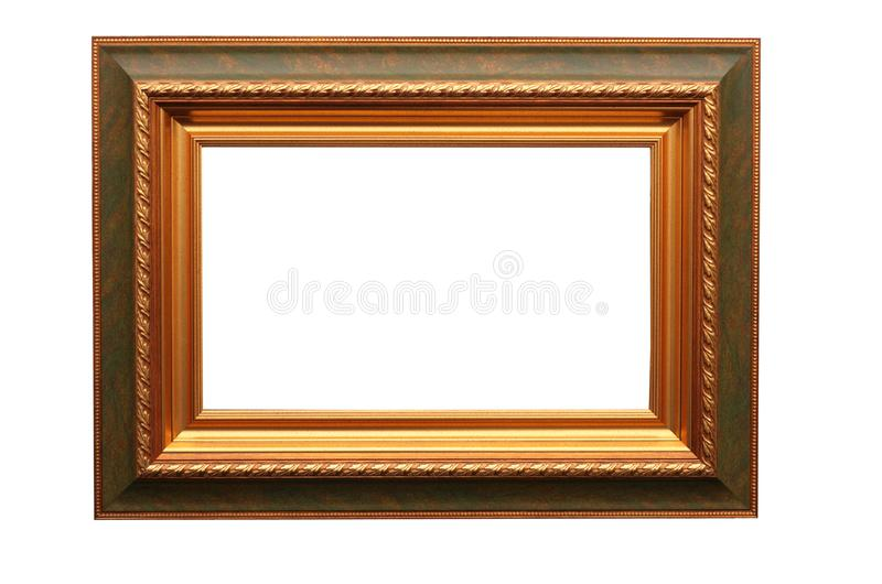 Frame for picture on white stock photos