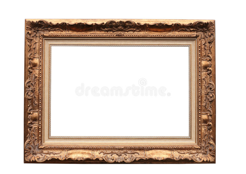 Frame for picture on white royalty free stock image