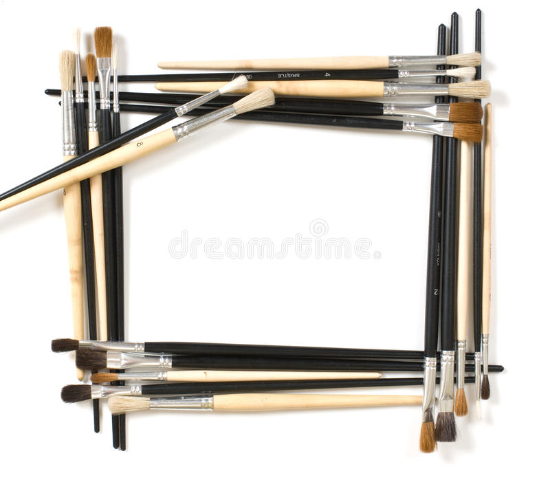 Download Frame For Pictures And Brush Stock Photo - Image: 16565470