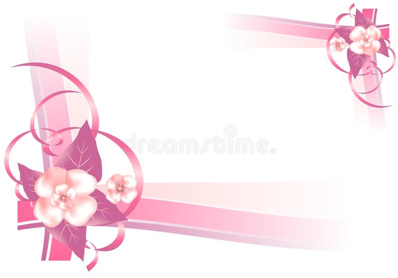 Download Frame With Pink Flowers, Cdr Vector Stock Vector - Illustration of ornaments, border: 20549352
