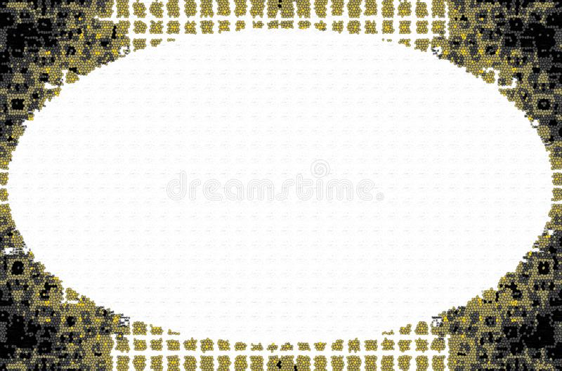 Frame for placing text or announcements. Beautiful colored frame for placing text or announcements vector illustration
