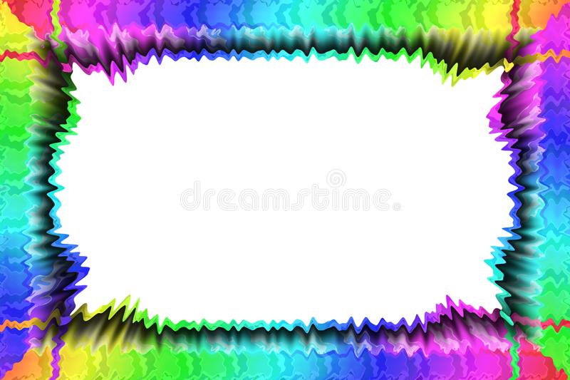 Frame for placing text or announcements. Beautiful colored frame for placing text or announcements royalty free illustration