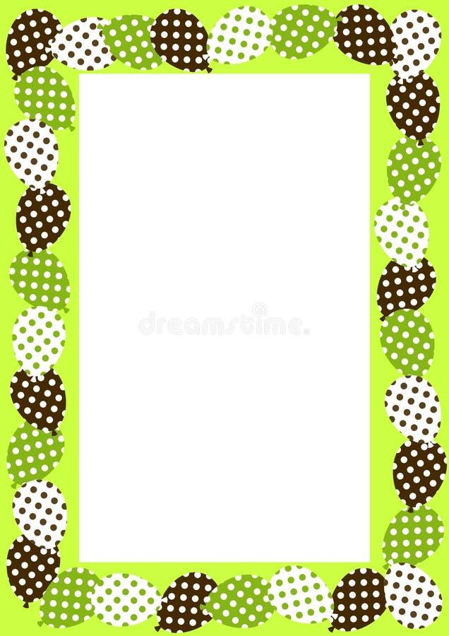 Frame With Polka Dot Balloons Border Stock Illustration ...