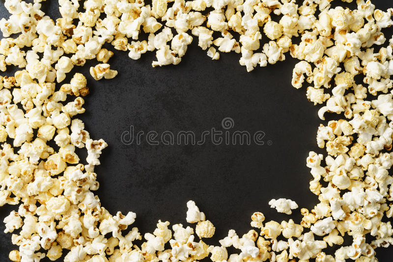 Frame of popcorn stock photography