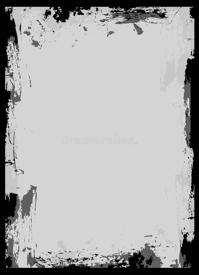 Frame preto da escova ilustração do vetor