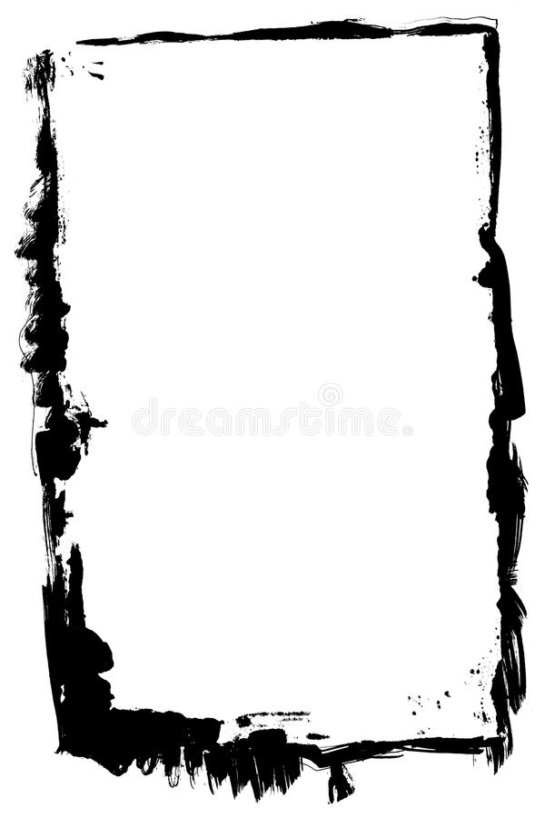 Frame preto da tinta ilustração do vetor