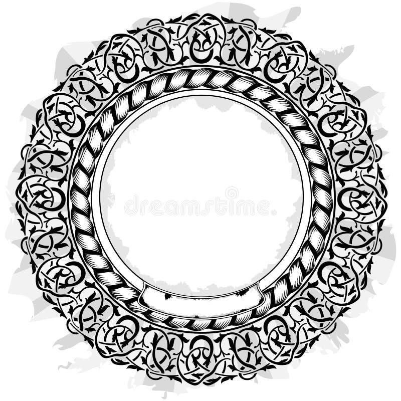 Frame preto do círculo ilustração do vetor