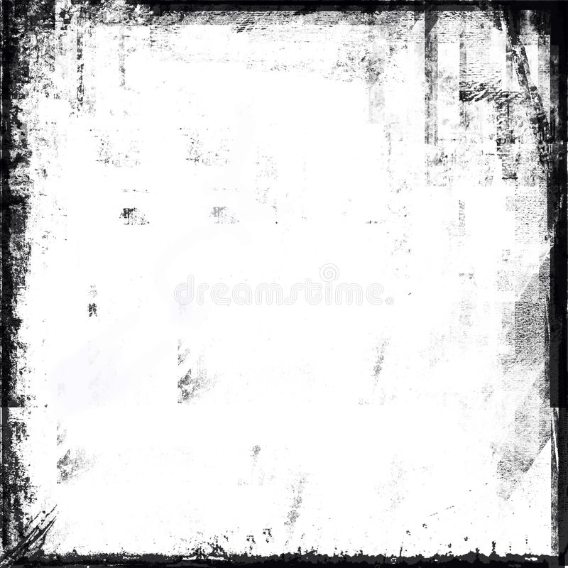 Frame preto e branco de Grunge ilustração do vetor