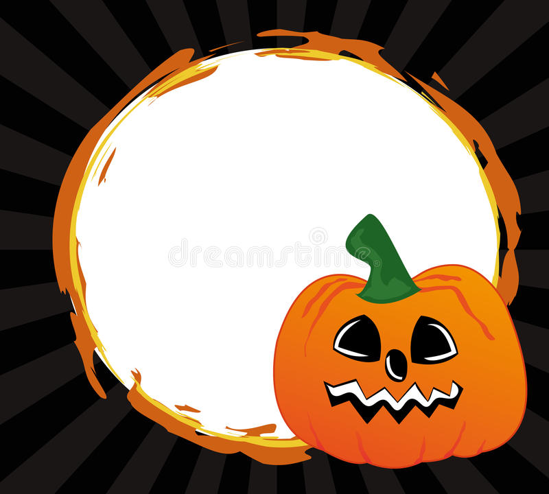 Download Frame with pumpkin stock illustration. Image of horror - 13903448