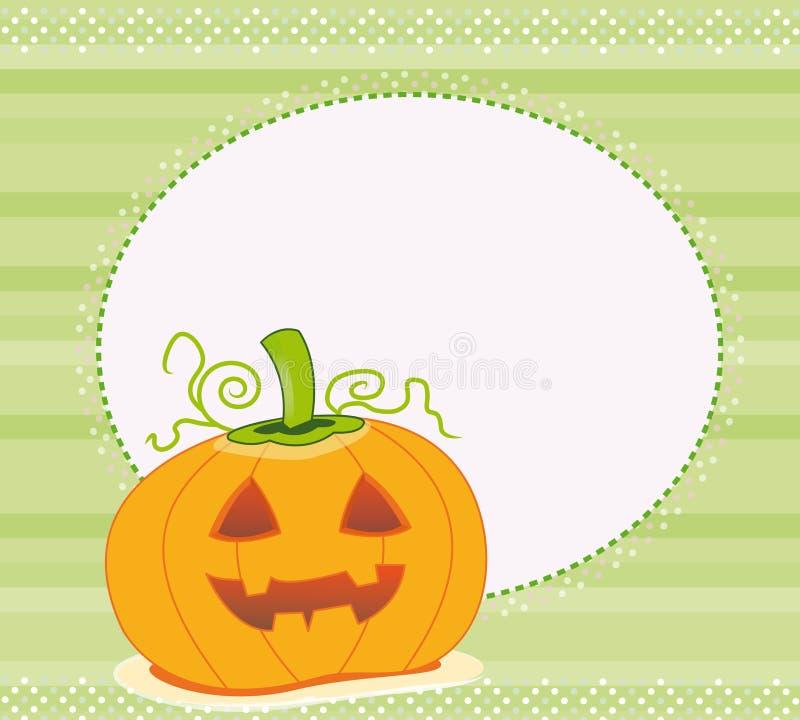 Frame with pumpkin cartoon royalty free stock photo