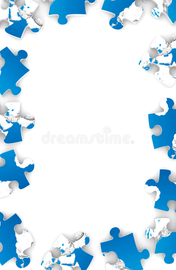 Download Frame from puzzles stock photo. Image of team, border - 2356236