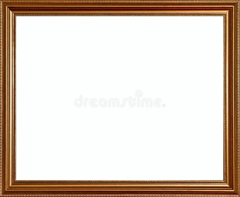 Frame rústico dourado clássico rico da qualidade do vintage imagens de stock royalty free