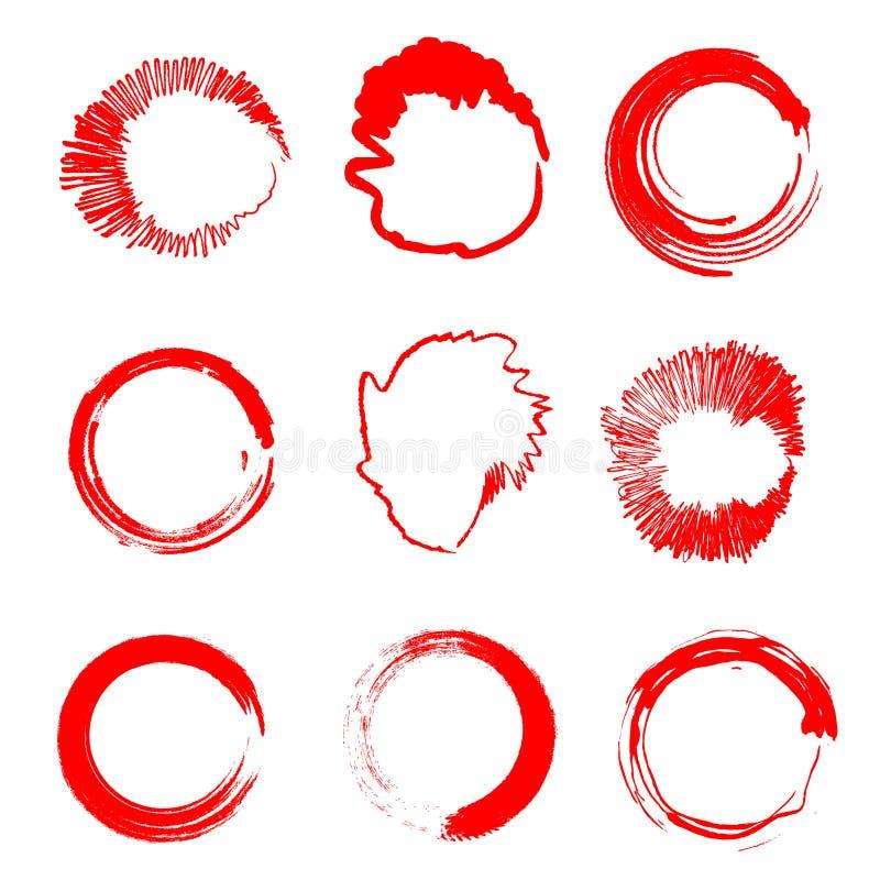 Frame redondo ilustração stock