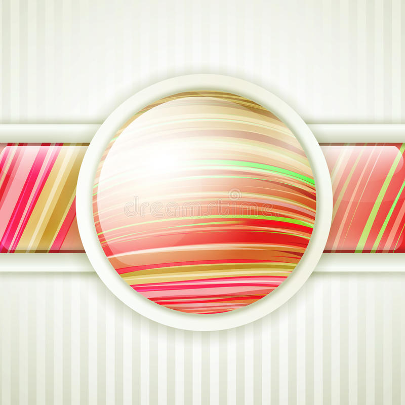 Frame redondo da tecla ilustração royalty free