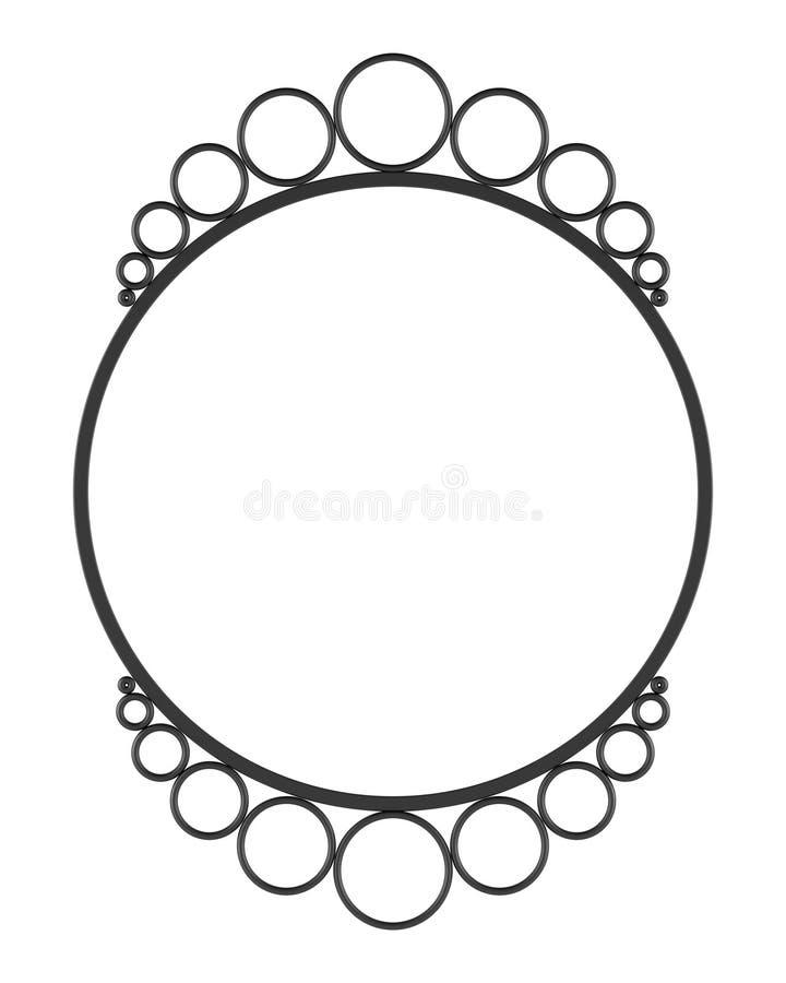 Frame redondo do espelho da parede em branco isolado no branco ilustração do vetor