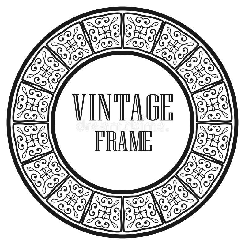 Frame redondo do vintage ilustração stock