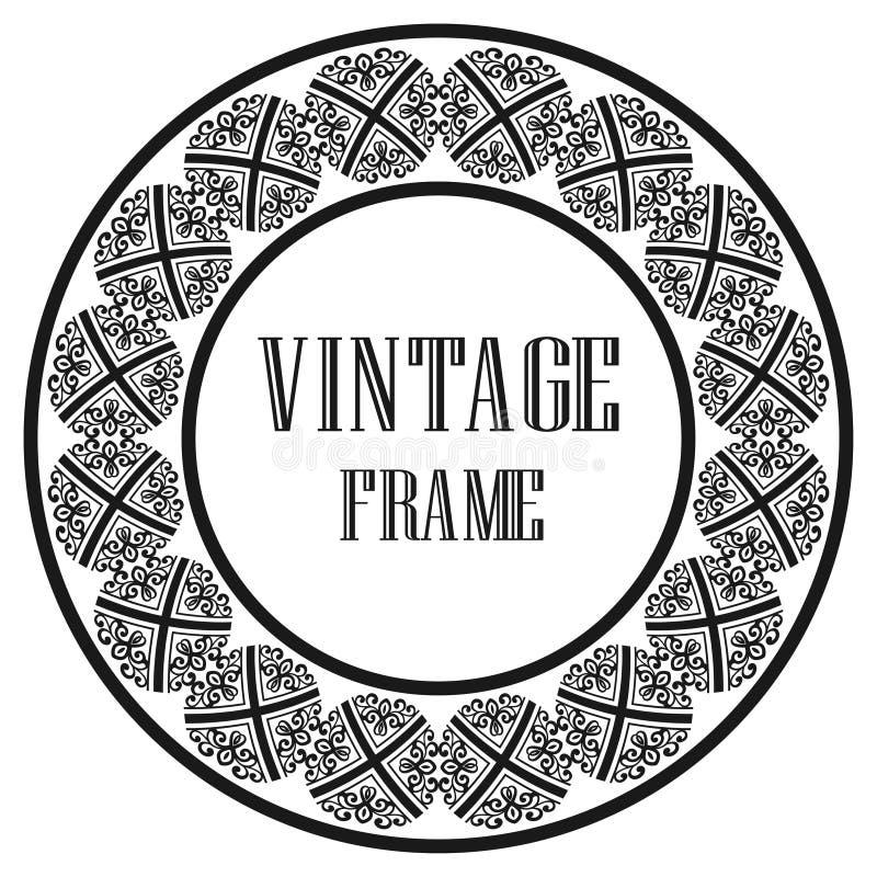 Frame redondo do vintage ilustração do vetor
