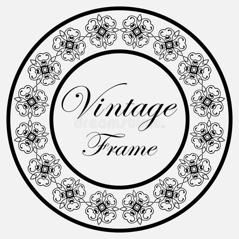 Frame redondo do vintage ilustração royalty free