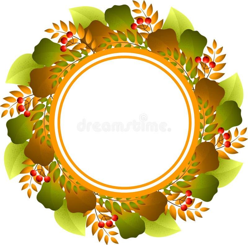 Frame redondo outonal ilustração stock