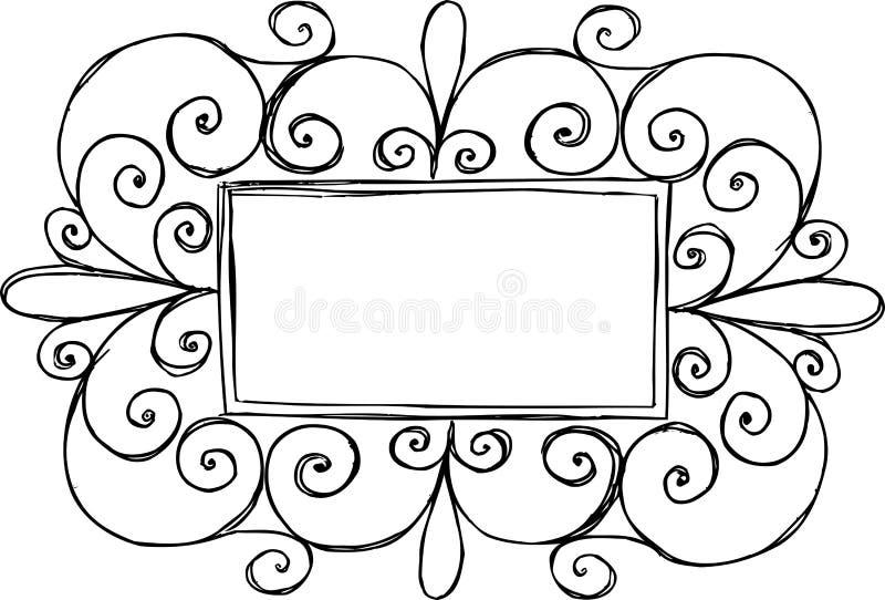 Frame retangular da beira ilustração do vetor