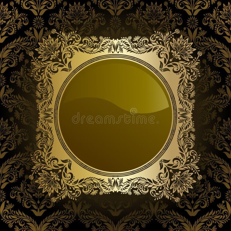 Frame retro ilustração royalty free