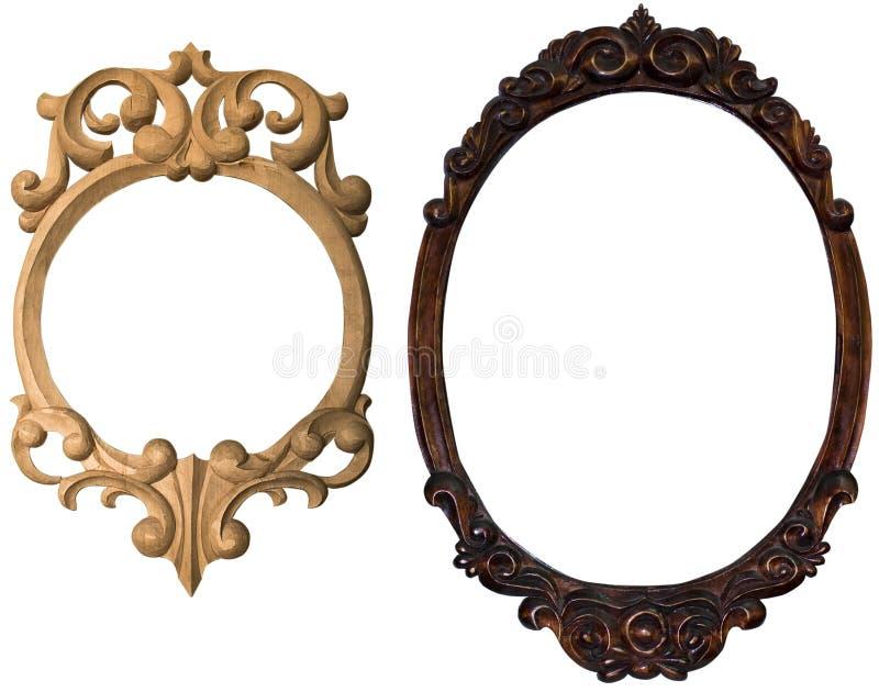 Frame retro. Old frame decorativ retro carved stock photography
