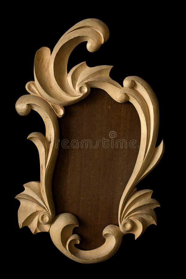Frame retro. Elements frame decorativ retro carved royalty free stock images