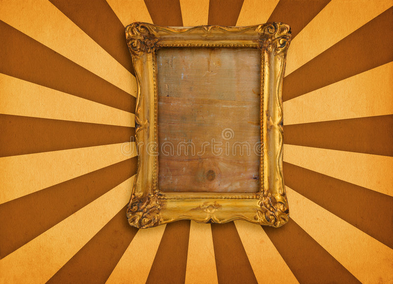 Frame on retro background royalty free stock photography