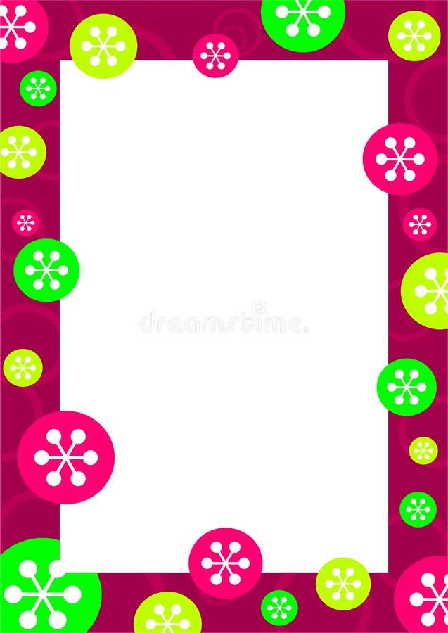 Frame retro do floco ilustração do vetor