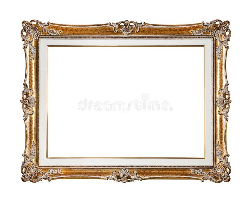 Frame retro do ouro velho imagens de stock royalty free
