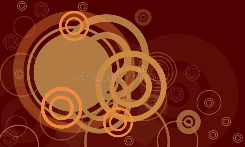 Frame retro horizontal com co ilustração do vetor