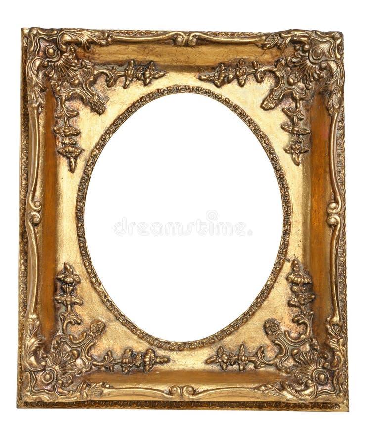 Frame retro velho do ouro fotos de stock royalty free