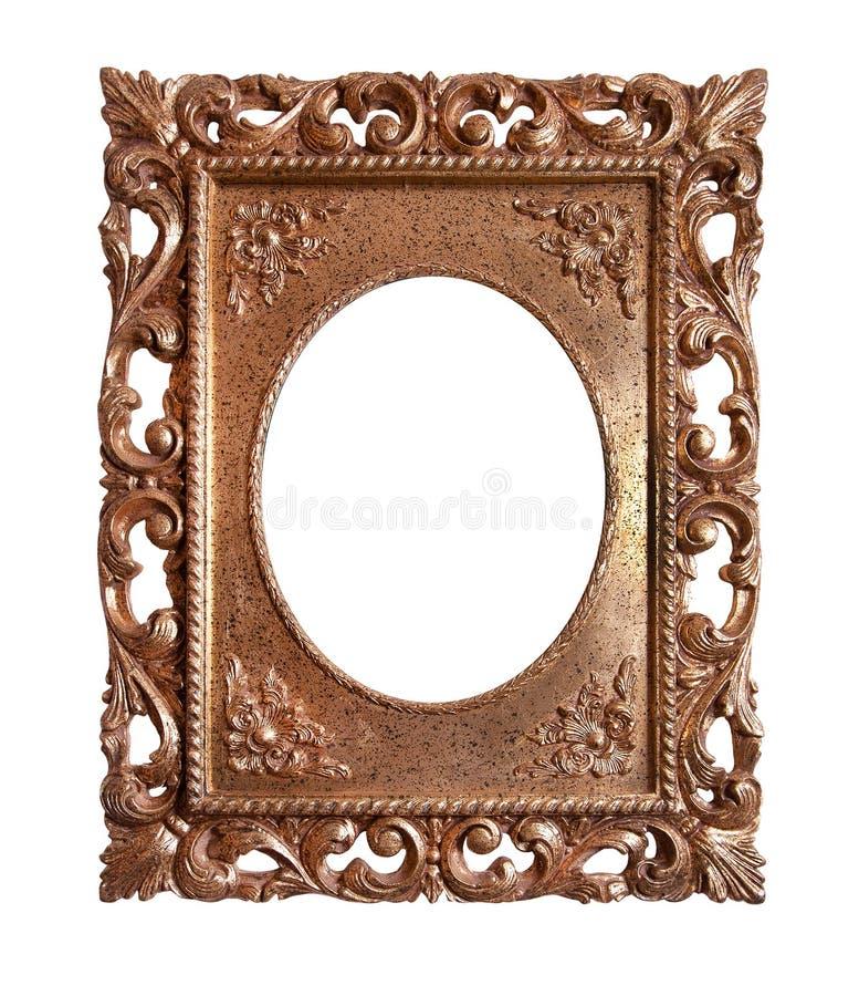 Frame retro velho do ouro imagem de stock royalty free