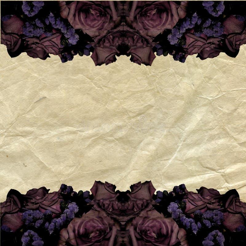 Frame romântico de Grunge ilustração do vetor
