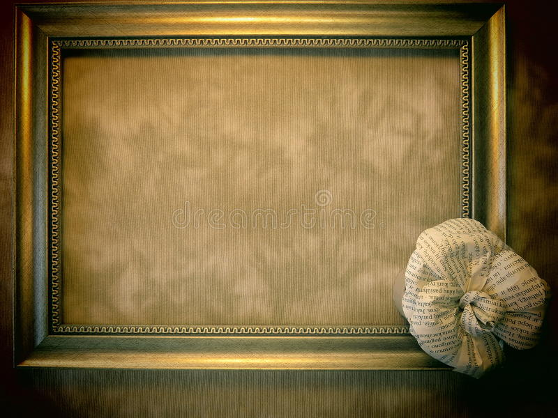 Download Frame And Rose Made From Newspaper Stock Photo - Image: 26611834