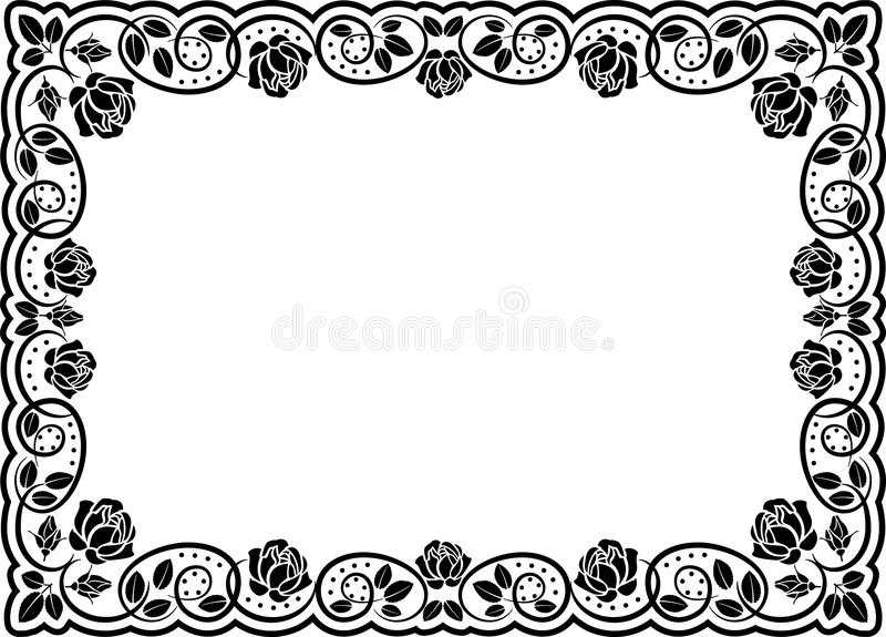 Frame Roses Royalty Free Stock Image