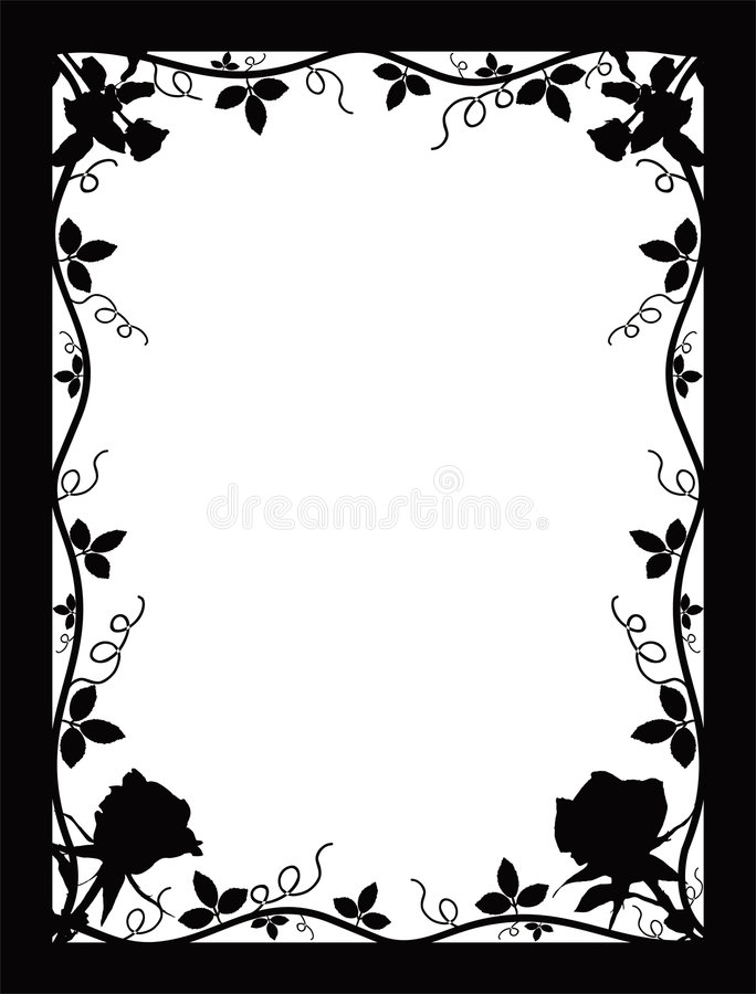 Download Frame with roses, vector stock vector. Illustration of vector - 455068