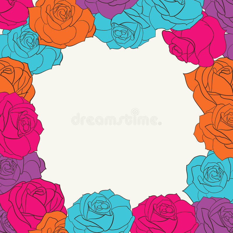 Download Frame With Roses. Royalty Free Stock Photography - Image: 31974767