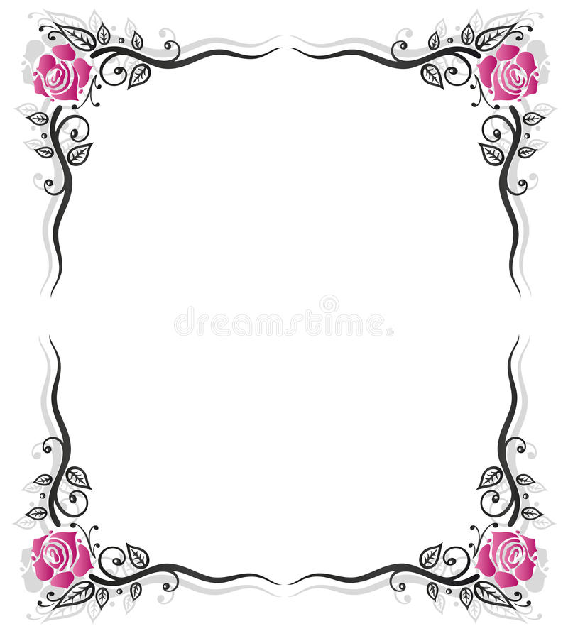 Download Frame, roses, vintage stock vector. Image of decoration - 34776798