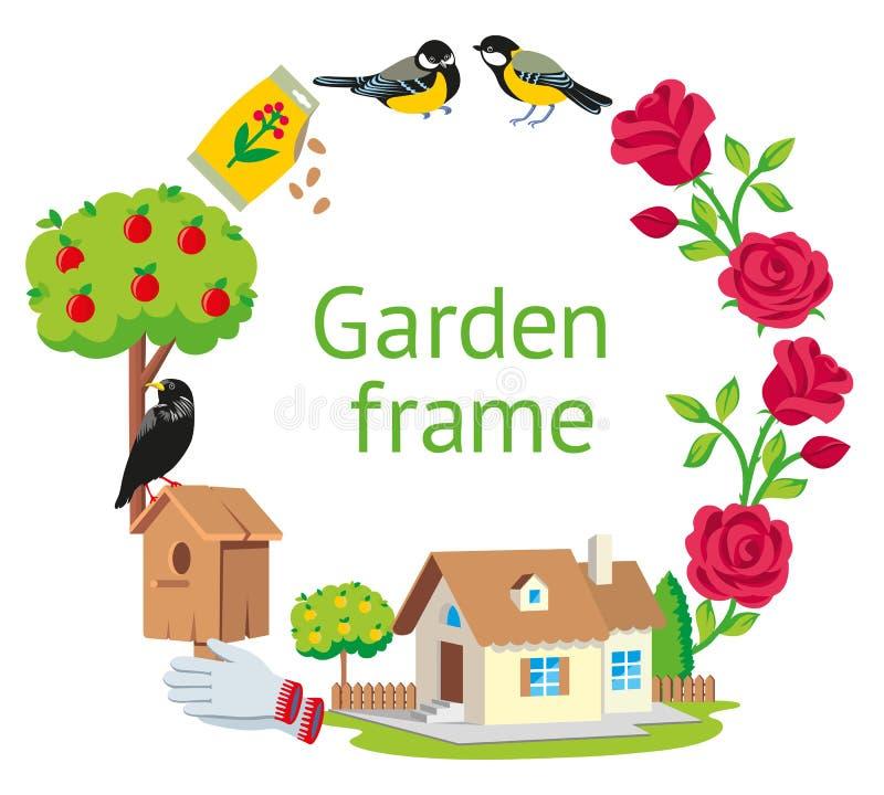Cartoon Cottage Frame stock illustration. Illustration of ...
