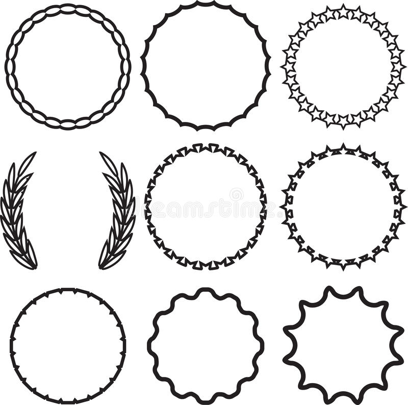 Frame round set decoration template stock vector image for Decor 6 template