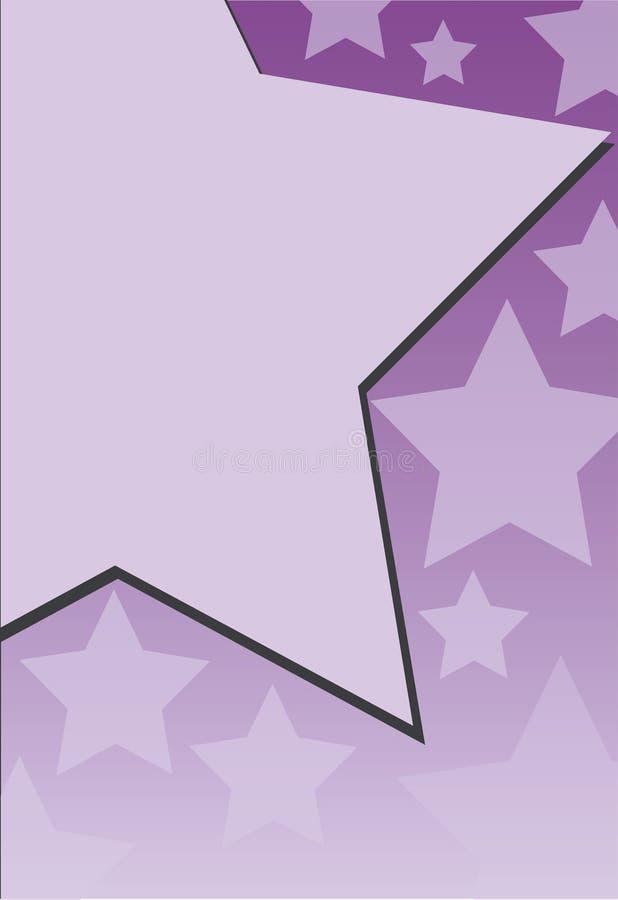 Frame roxo com estrelas ilustração stock