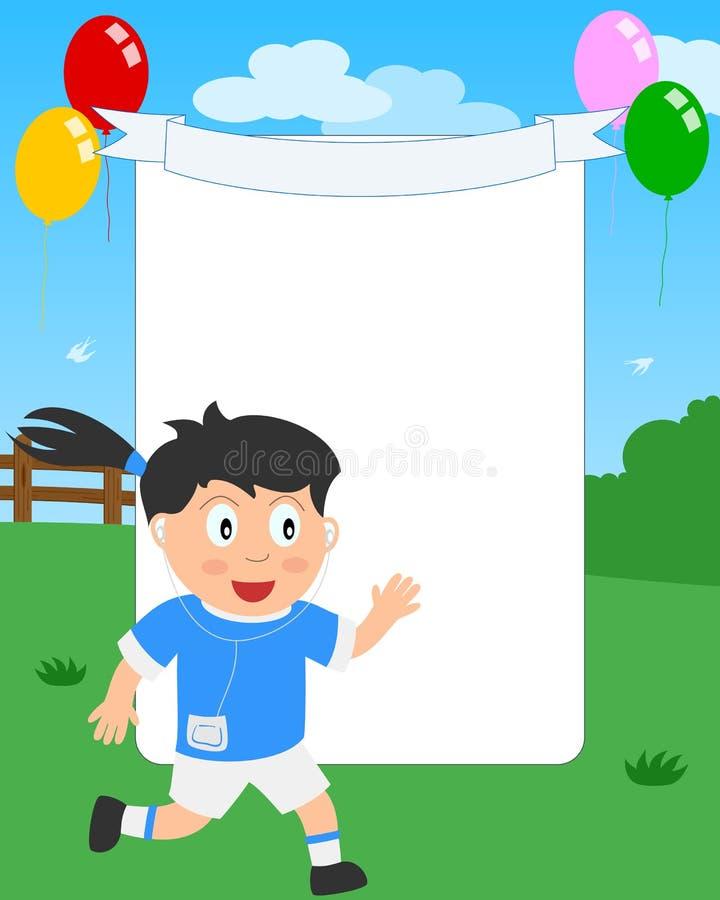 Frame Running da foto da menina ilustração do vetor
