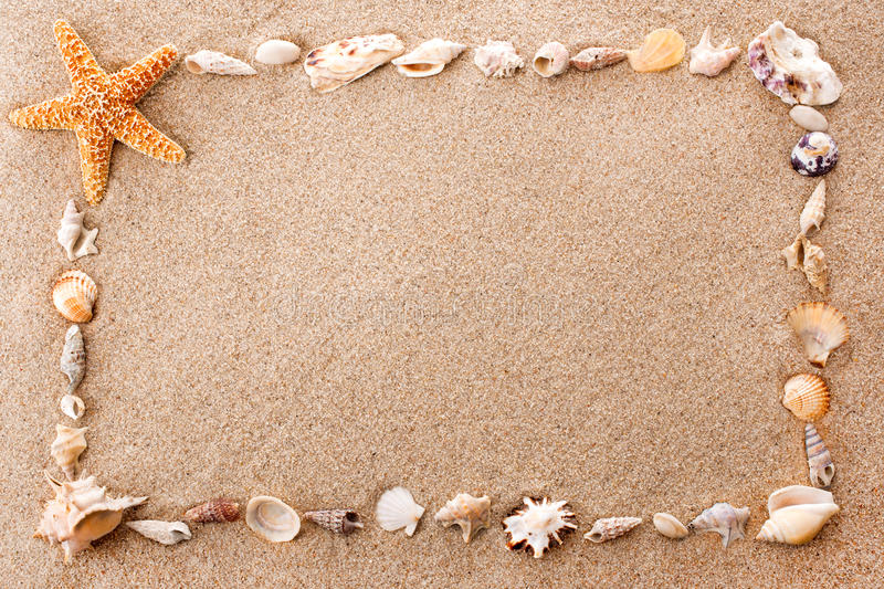 Download Frame Of Seashells Royalty Free Stock Photos - Image: 26860778